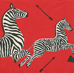 Lunch Napkins Caspari Zebra Red