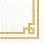 Cocktail Napkins Caspari Rive Gauche Gold & White