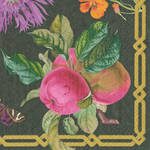 Lunch Napkins Caspari Decoupage Black