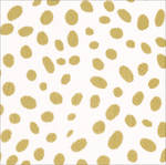 Cocktail Napkins Caspari Spots Gold