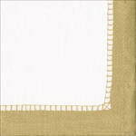 Cocktail Napkins Caspari Linen Gold Border