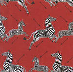 Sheet Wrap Zebras Red
