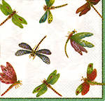 Lunch Napkins Caspari Dragonflies