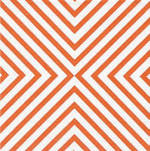 Napkins: Caspari - Cocktail Chevron Coral
