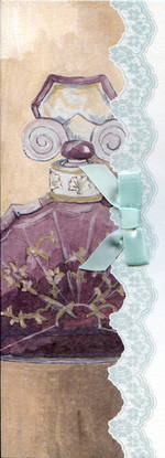 Blank Card: Parisian - Perfume Bottle Purple