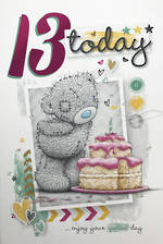 Birthday Age Card 13 Female Me To You