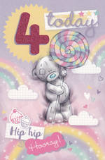 Birthday Age Card 4 Girl Me To You Tatty Lolipop
