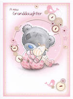 Baby Card Grandchild Me To You New Granddaughter