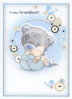 Baby Card Grandchild Me To You New Grandson