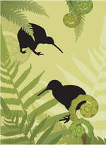 Mini Card Amis Kiwi And Ferns