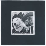 Blank Card Photographic Two Dogs in Dress Sarrat