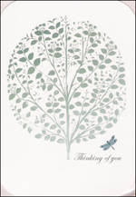 Sympathy Card Thinking of You Stephanie Rose Tree