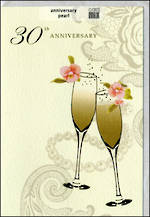 Anniversary Card 30th Pearl: Stephanie Rose