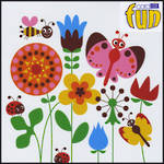 Blank Card: Fun - Flowers Bees And Butterflies