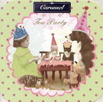 Blank Card: Carousel - Tea Party