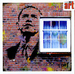 Blank Card: Graffiti - Obama