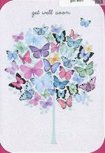 Get Well Card Butterfly Tree