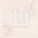 Anniversary Card 30th Pearl Peach Floral