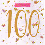 Birthday Age Card 100 Female Sassafras
