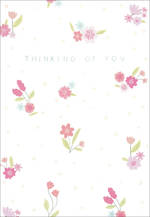 Sympathy Card Thinking of You Floral Pattern