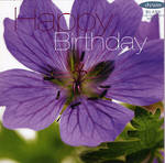 Female Birthday Card: Fab Flowers Purple Lily