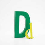 AlphaArt: Kelly Green Capital D