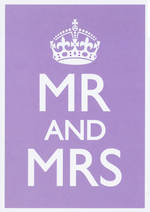 Wedding Card In The Spirit Mr And Mrs