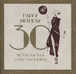 Birthday Age Card 30 Female Stardust Couture