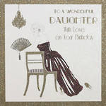 Daughter Birthday Card: Stardust Couture With Love