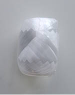 Ribbon Poly Egg White 5mm/20m
