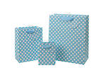 Medium Gift Bag General Spotty Blue
