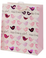 Large Gift Bag Baby Girl Birds