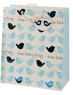 Large Gift Bag Baby Boy Birds