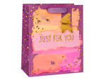 Large Gift Bag Paper Sald Geo Purple