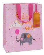 Large Gift Bag Baby Girl Tiny Elephant