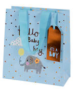 Medium Gift Bag Baby Boy Tiny Elephant
