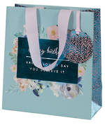 Medium Gift Bag Female Dyment Blue