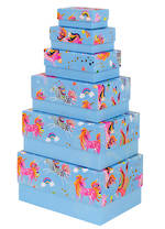 Rectangular Gift Box Nest of 6 Unicorns