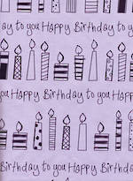 Sheet Wrap Birthday Candles Pink