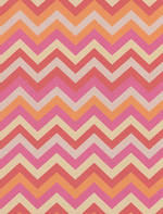 Sheet Wrap Pink Orange Zig Zag