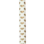 Roll Wrap Gold Hearts 1.5m