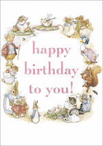Beatrix Potter Birthday Text Pink