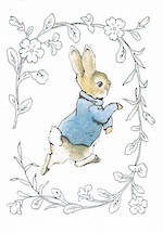 Kids' Birthday Card: Beatrix Potter Peter Rabbit