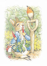 Kids' Birthday Card: Beatrix Potter Peter Carrots