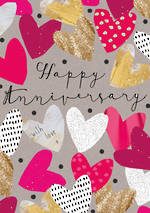 Anniversary Card: Candy Hearts