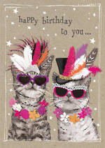 Fancy Pants Birthday Cats