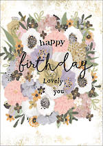 Gold Leaf Birthday Floral