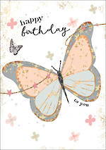 Gold Leaf Birthday Butterfly