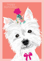 Woof Woof Birthday White Terrier
