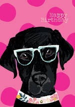 Woof Woof Birthday Black Lab